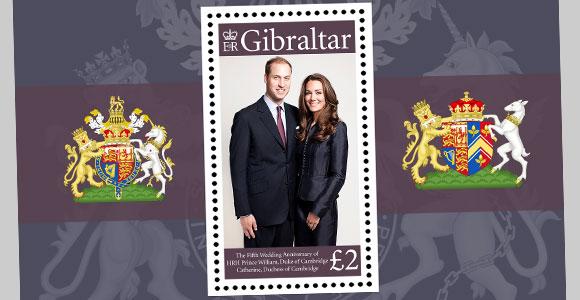 Kate Middleton, en los sellos