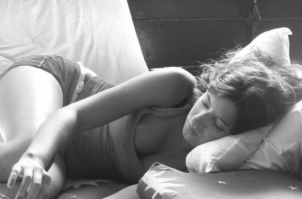 Una mujer que duerme